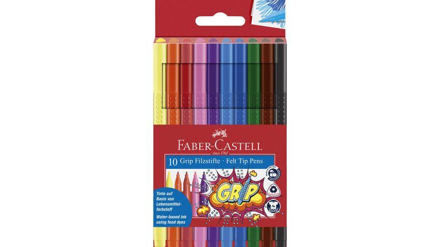 FABER CASTELL Fasermaler Grip Colour Marker 10er Etui