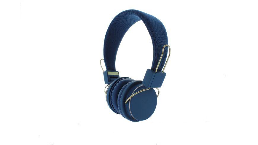 Ryght Bluetooth Buegelkopfhoerer blau