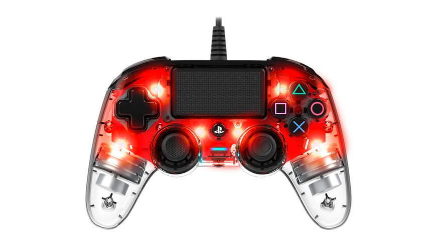 NACON PS4 Controller Light Edition Off lizenziert red