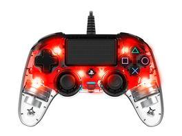 NACON PS4 Controller Light Edition Off lizenziert red