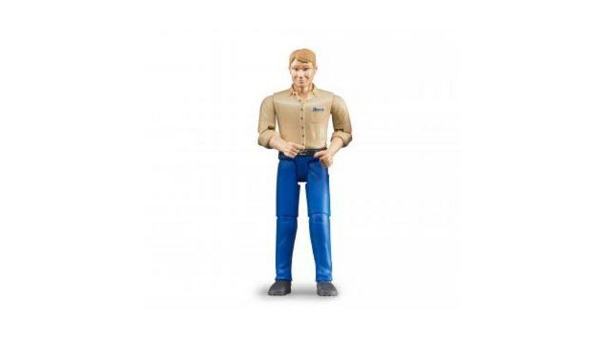 BRUDER Mann mit hellem Hauttyp und blauer Hose 60006