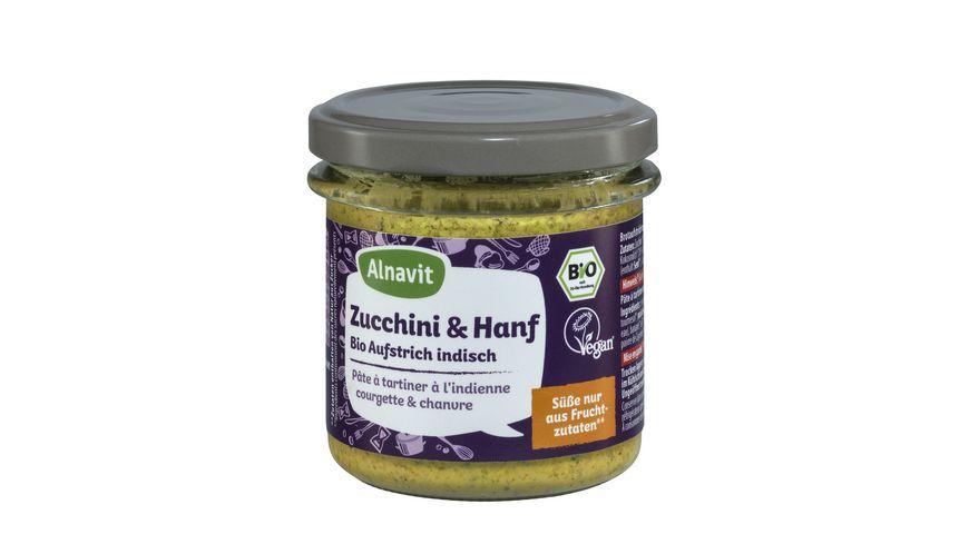 Alnavit Zucchini Hanf Bio Aufstrich indisch