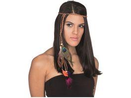 Rubies Kopfband mit Federn bunt
