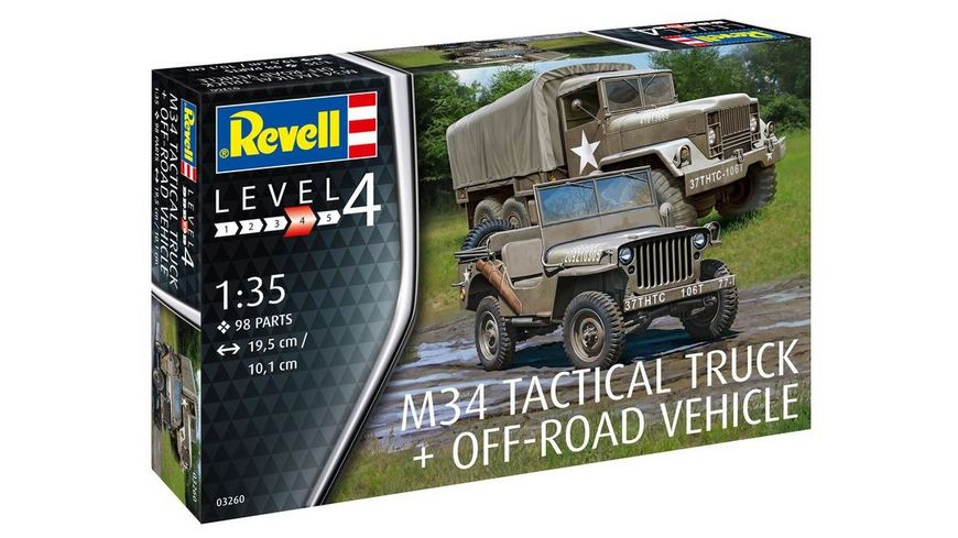 Revell 03260 M34 Tactical Truck Off Road Vehicle
