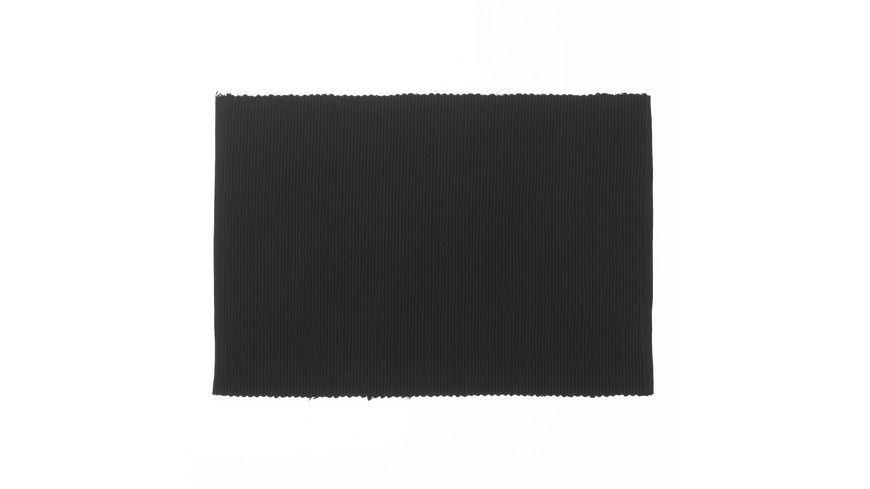 kela Tischset Baumwolle schwarz