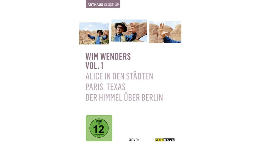 Wim Wenders Arthaus Close Up 3 DVDs