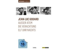 Jean Luc Godard Arthaus Close Up 3 DVDs