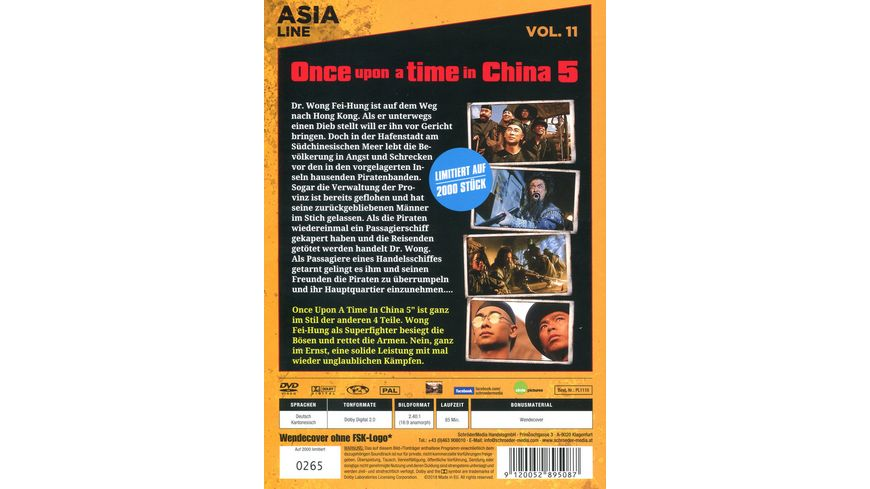 Asia Line Once upon a time in China 5 Dr Wong gegen die Piraten LE