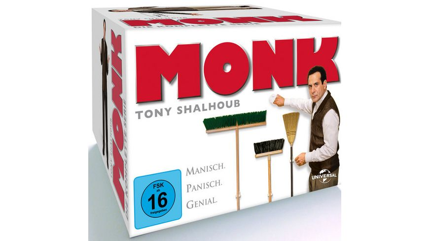 Monk Staffel 1 8 Gesamtbox 32 DVDs