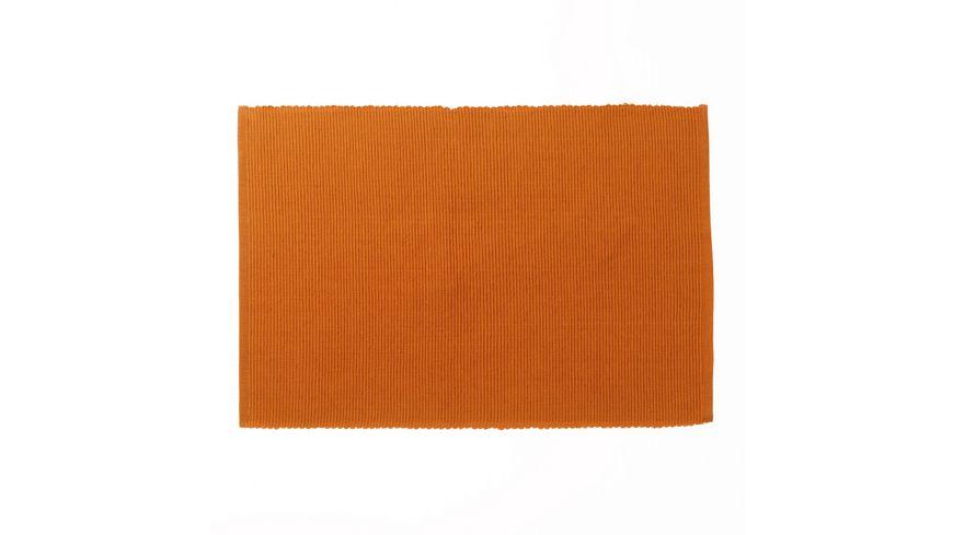 kela Tischset Baumwolle orange