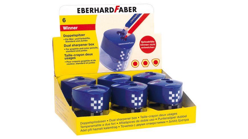 EBERHARD FABER Doppelspitzdose Winner dreiflaechig blau