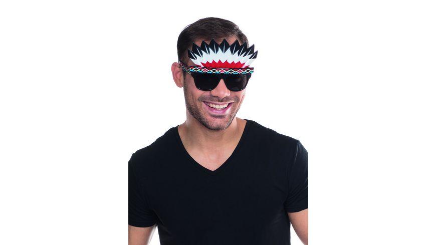 Mottoland Indianer Brille