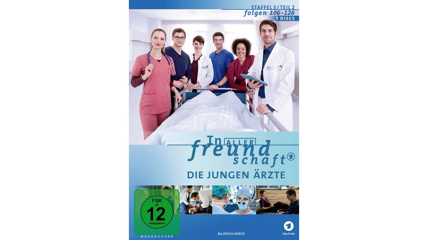 In aller Freundschaft Die jungen Aerzte Staffel 3 2 Folgen 106 126 7 DVDs