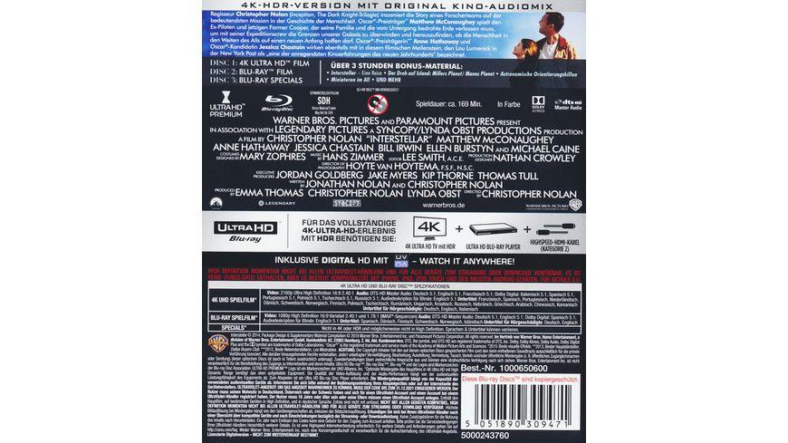 Interstellar 4K Ultra HD 2 Blu rays