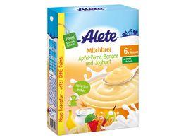 Alete Beikost Milchbrei Apfel Birne Banane und Joghurt