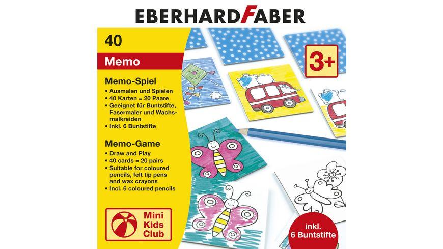 EBERHARD FABER Memo Spielkarten inkl 6 Buntstifte