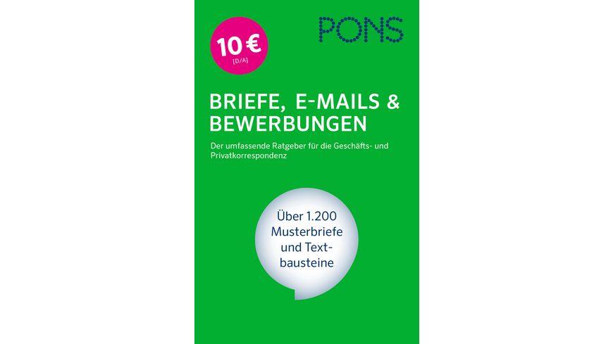pons briefe e mails bewerbungen - Muller Online Bewerbung