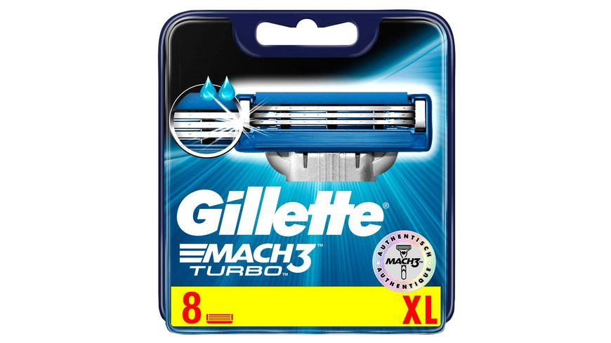 Gillette Klingen Mach3 Turbo 3D System 8er