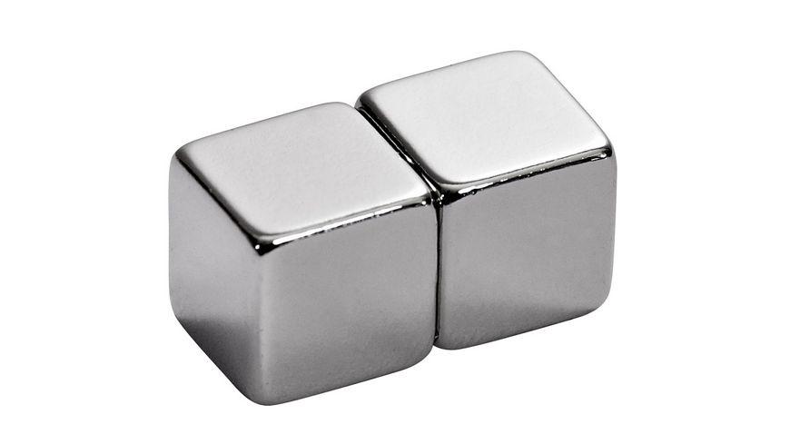 ALCO BKT Magnete Wuerfel silber 2er Pack
