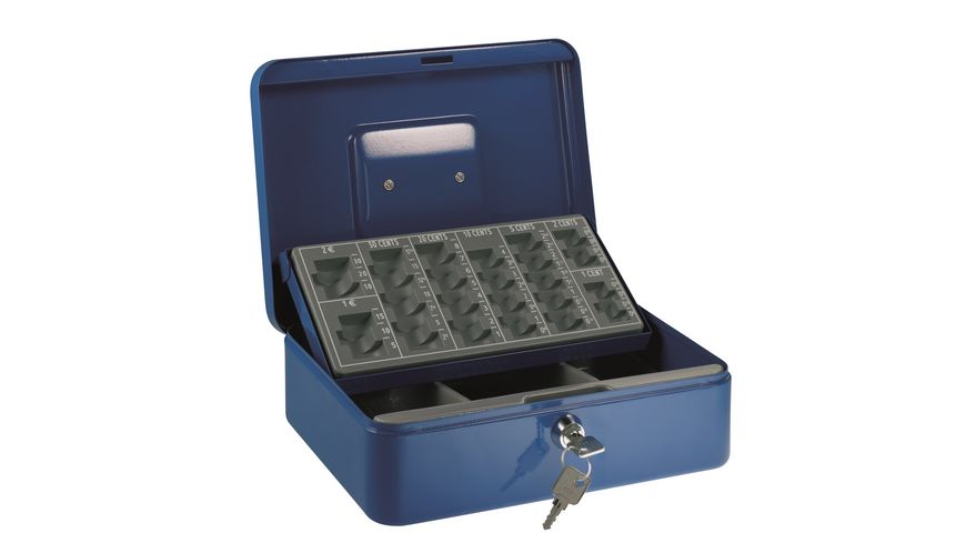 ALCO Geldkassette blau 25x18x9cm