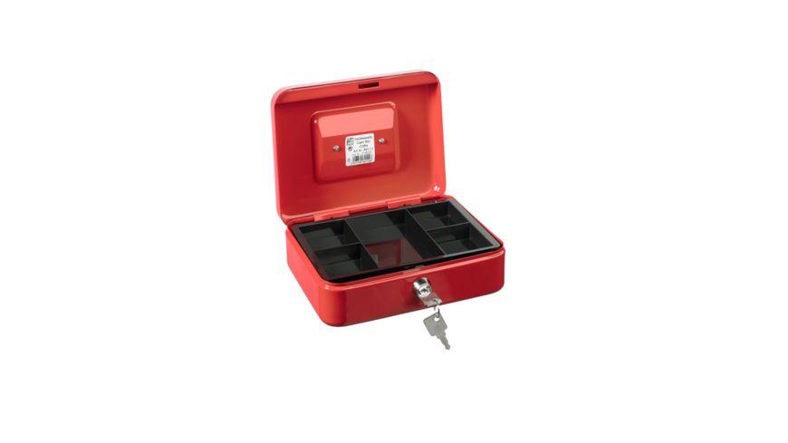 ALCO Geldkassette rot mit Griff 20 x 16 x 7 cm