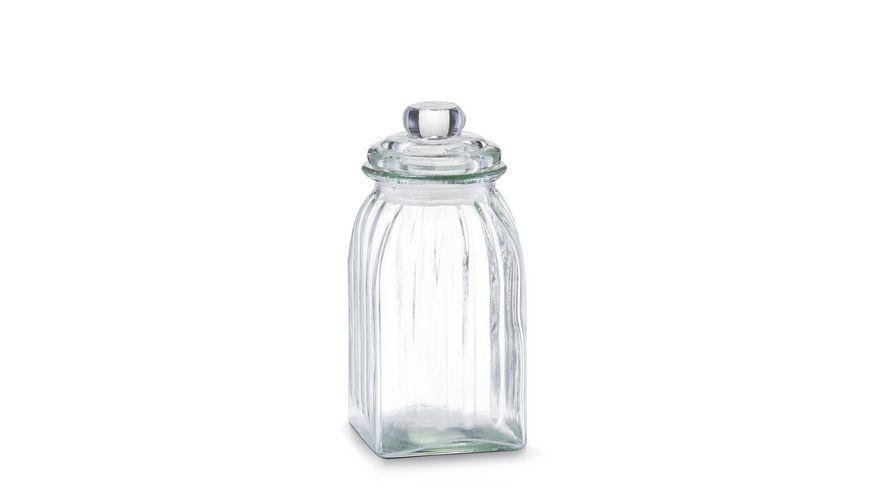 zeller Vorratsglas eckig 1 l