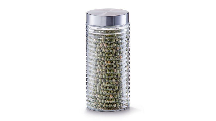 zeller Vorratsglas gerillt 1 4 l