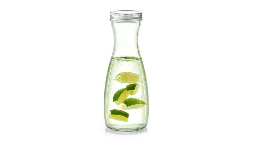zeller Glasflasche mit Metalldeckel 1 l