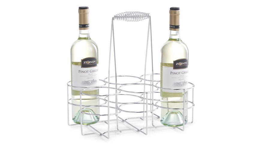 zeller Flaschenhalter fuer 6 Flaschen