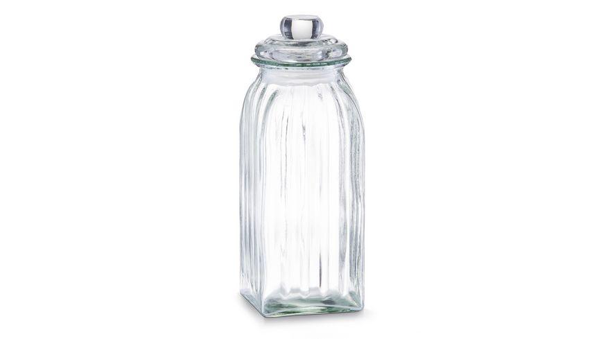 zeller Vorratsglas eckig 1 5 l