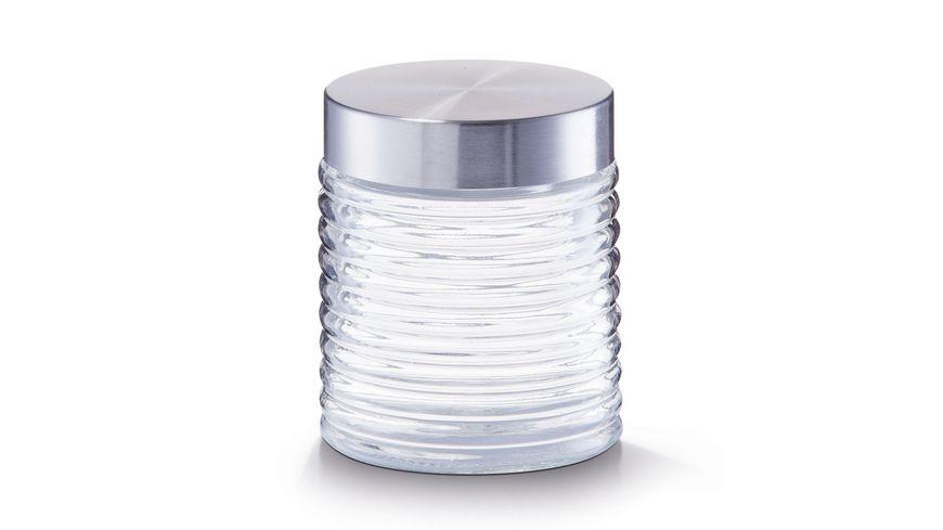 zeller Vorratsglas gerillt 650 ml