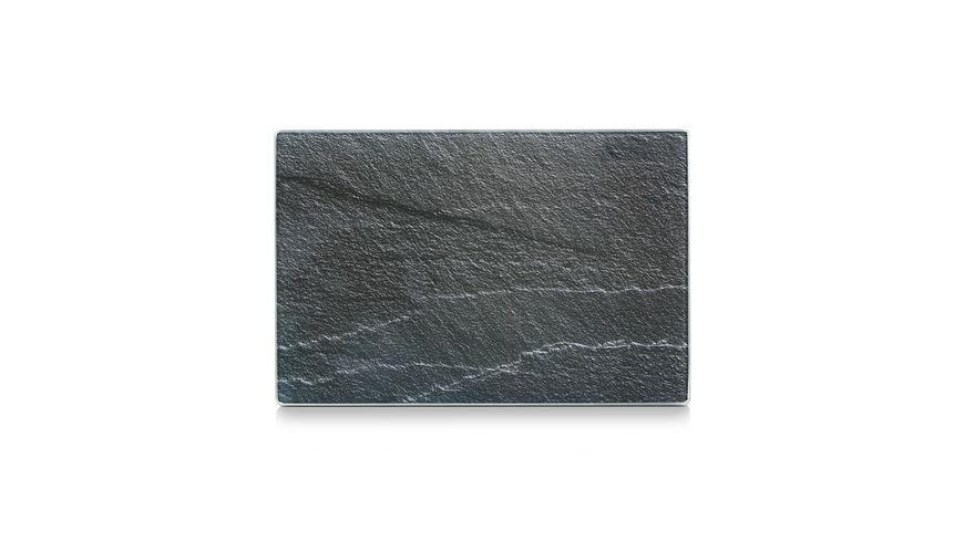 zeller Glasschneideplatte Schiefer anthrazit