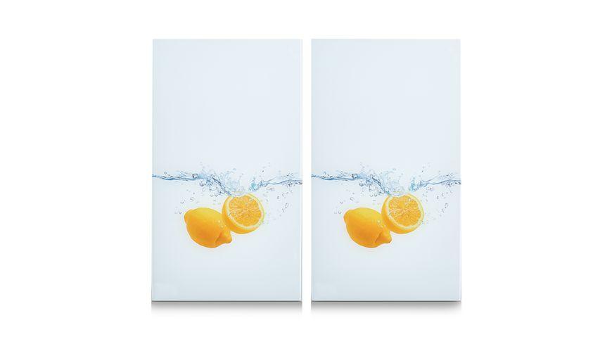 zeller Herdabdeck Schneideplatten Lemon Splash 2 er Set