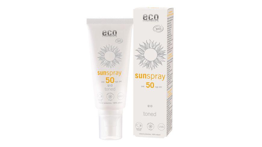 ECO Sonnenspray LSF50 mit Q10 getoent