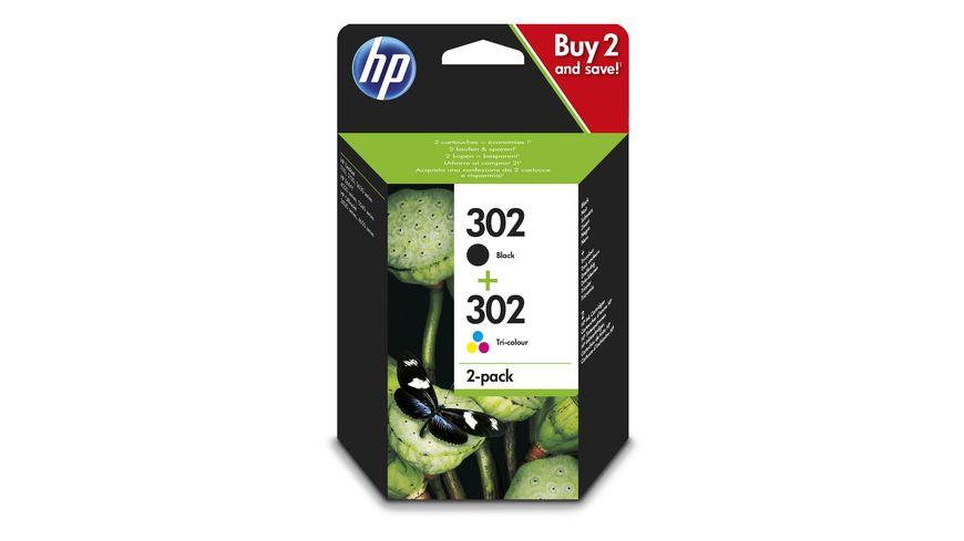 HP Druckerpatrone 302 Multipack schwarz