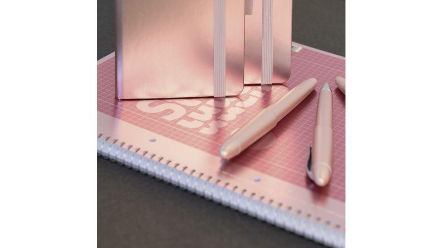 BRUNNEN Notizbuch Metallic Dotted 12 5 x 19 5 cm