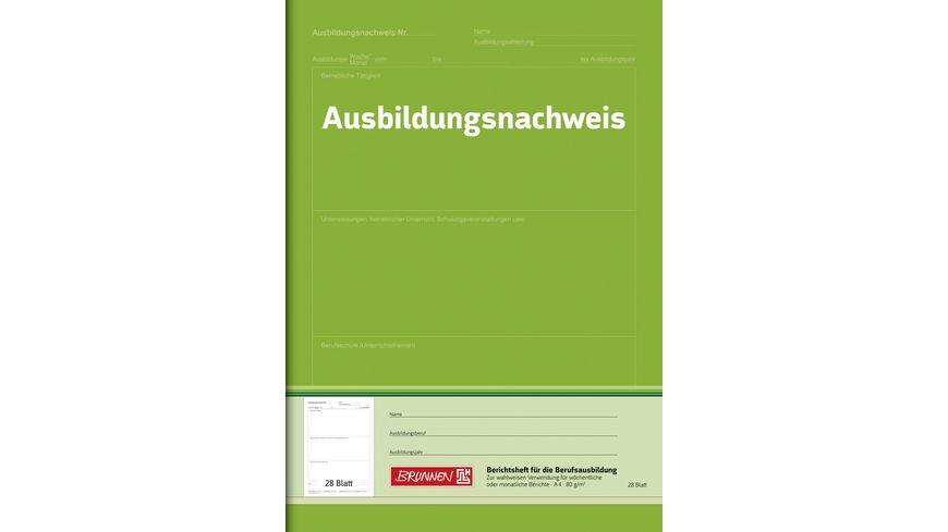 BRUNNEN Berichtsheft A4 Wochen bzw Monatsbuch