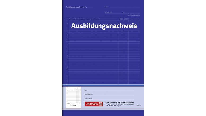 BRUNNEN Berichtsheft A4 fuer Tagesberichte