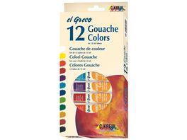 KREUL El Greco Gouache Farben 12er Set