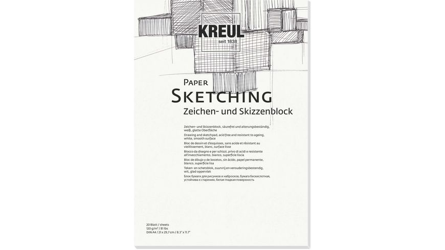 KREUL Kuenstlerblock Paper Sketching DIN A5