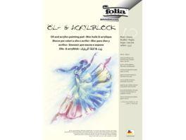 folia Oel und Acrylmalblock 10 Blatt DIN A4