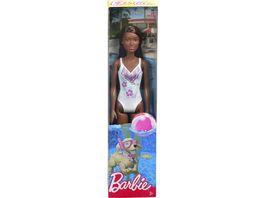 Mattel Barbie Beach Puppe weiss
