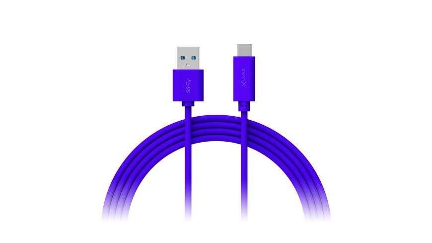 Xlayer Kabel Colour Line Typ C USB C to USB 3 0 1m Blue