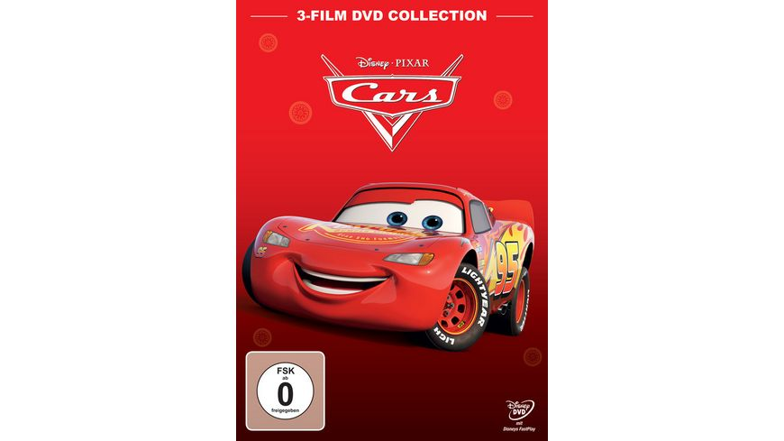 Cars 1 Cars 2 Cars 3 3 DVDs