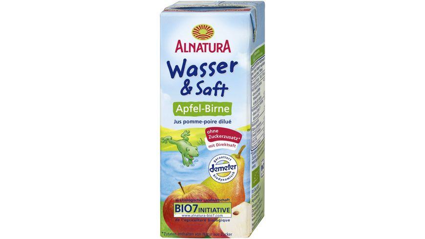 Alnatura Wasser Saft Apfel Birne ab 1 Jahr