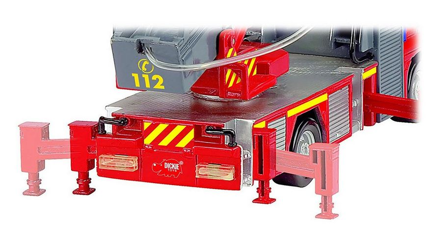 Dickie Feuerwehrauto mit manueller Wasserspritze