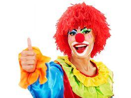 Makotex Peruecke Wolle Clown rot