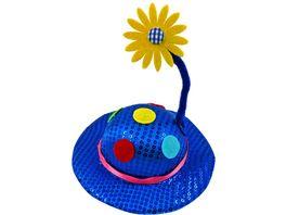 Makotex Minihut Pailletten Blume farblich sortiert
