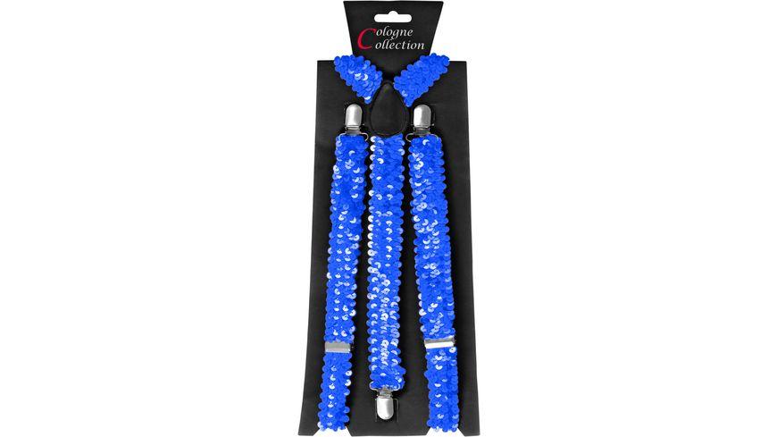 Makotex Hosentraeger Pailletten blau