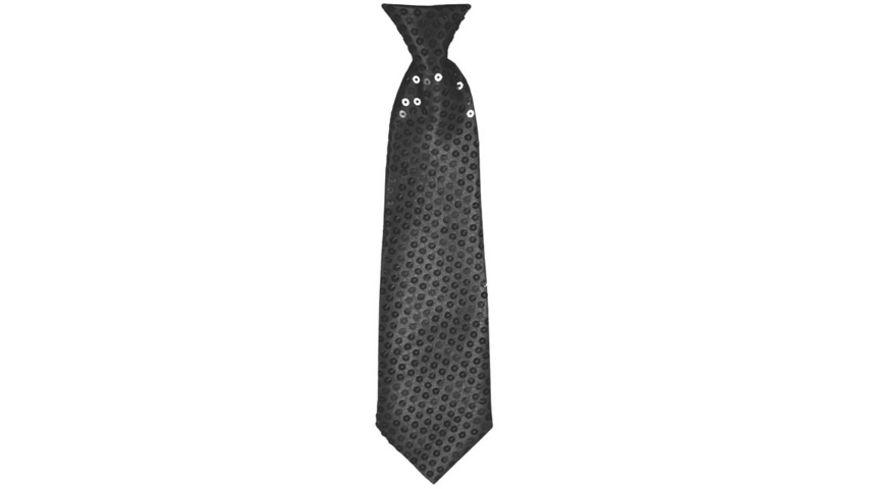 Makotex Krawatte Pailletten schwarz